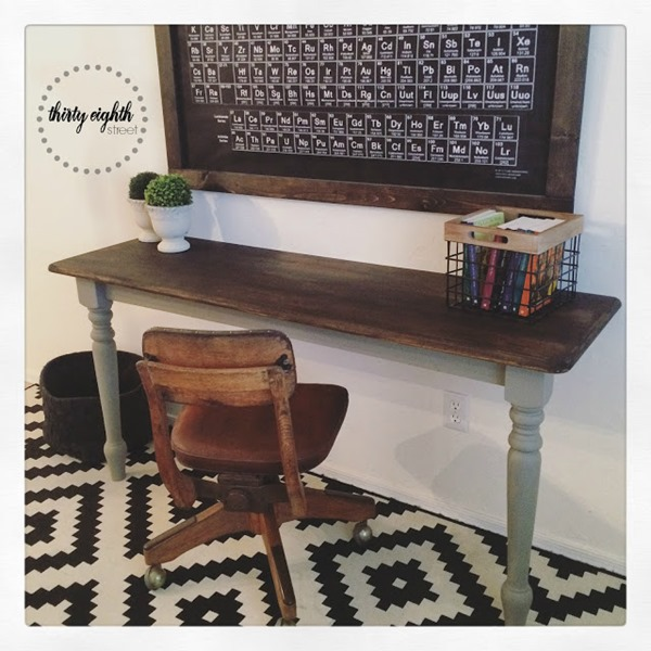 Turn A Table Into A Desk General Finishes Stain 0755