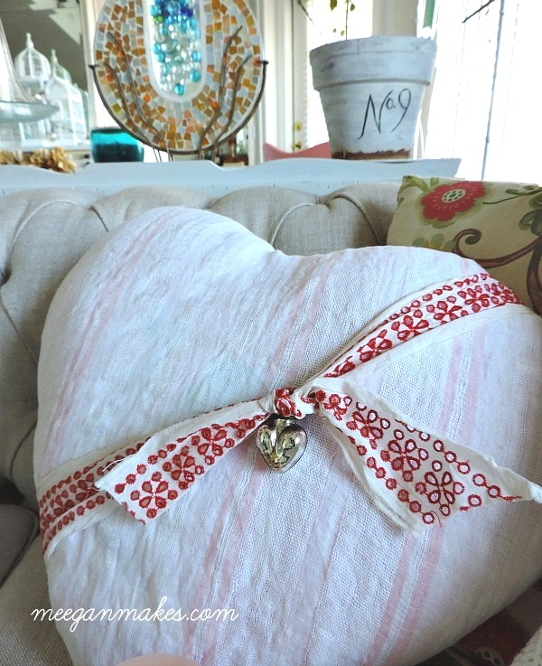 Vintage-Fabric-Pillow-with-Heart-Charm