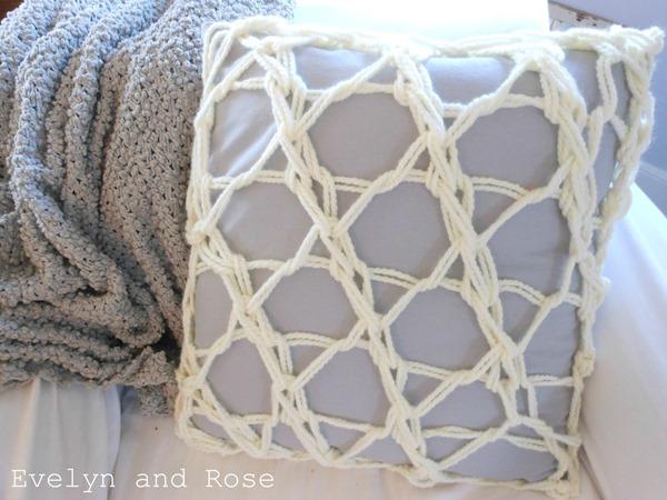winter living room pillow