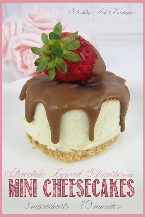 3 ingredient mini cheesecakes - Shabby Art Boutique