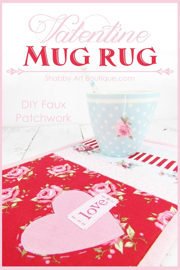 DIY Faux Patchwork Valentine Project by Shabby Art Boutique