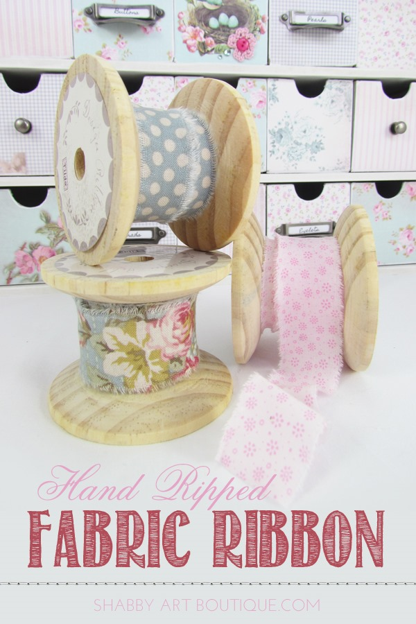 How to make hand ripped fabric ribbon by Shabby Art Boutique