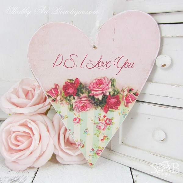 Diy Shabby : DIY–Shabby Wood Heart & Printable - Shabby Art Boutique