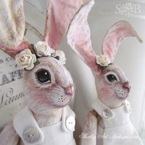 Shabby Art Boutique handmade bunnies 4