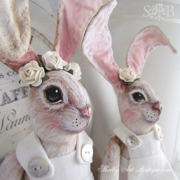 Shabby Art Boutique handmade bunnies 4