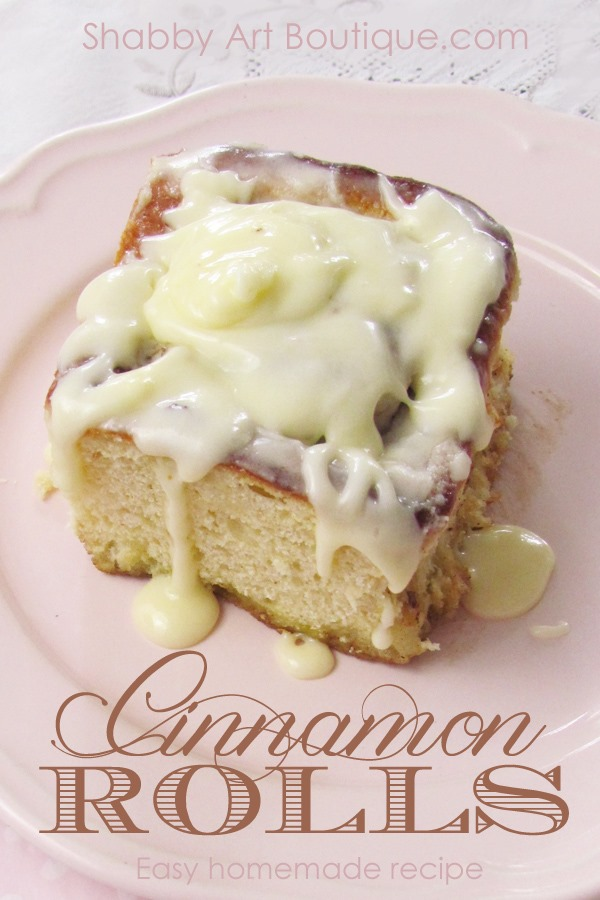 Easy homemade Cinnamon Rolls by Shabby Art Boutique