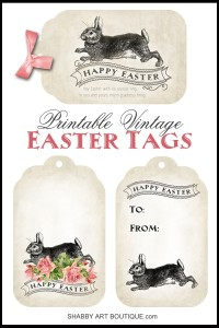 Printable Vintage Easter Tags