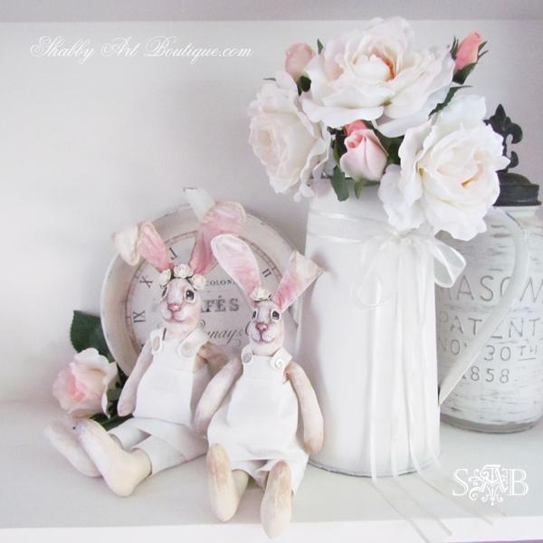 Shabby Art Boutique handmade bunnies 5