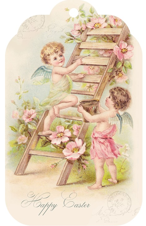 shabby Art Boutique Easter Printable tag