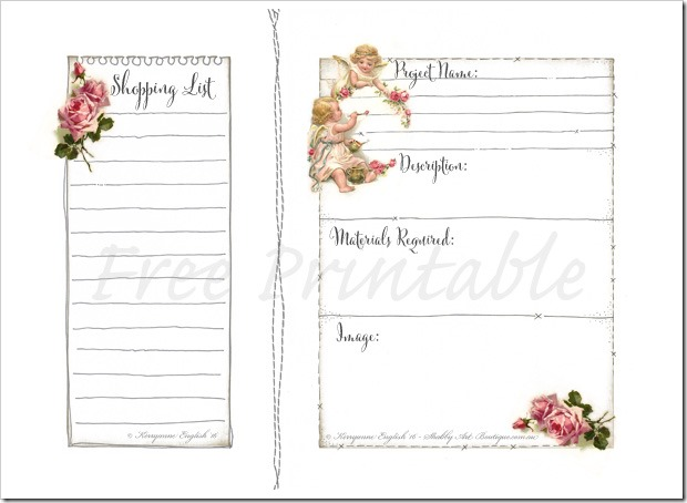 Free Project Planner Printable from Shabby Art Boutique