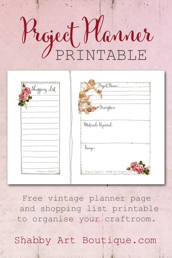 Project Planner Printable - Shabby Art Boutique