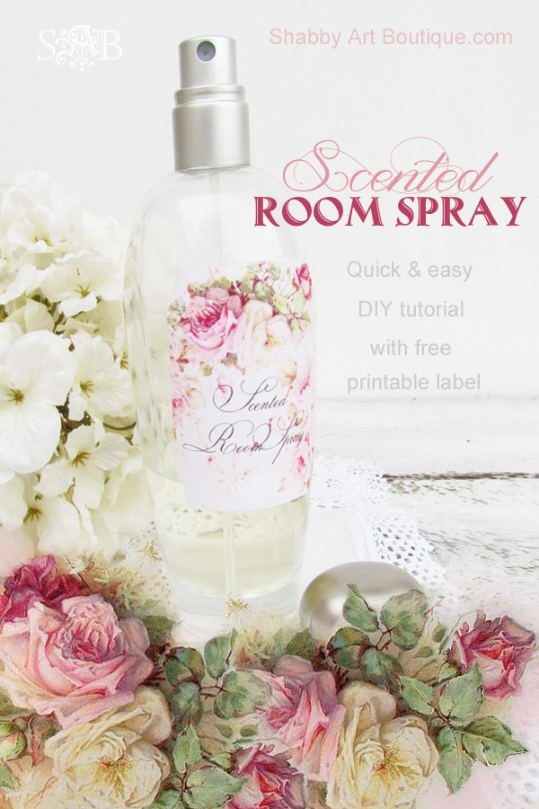 DIY scented room spray by Shabby Art Boutique