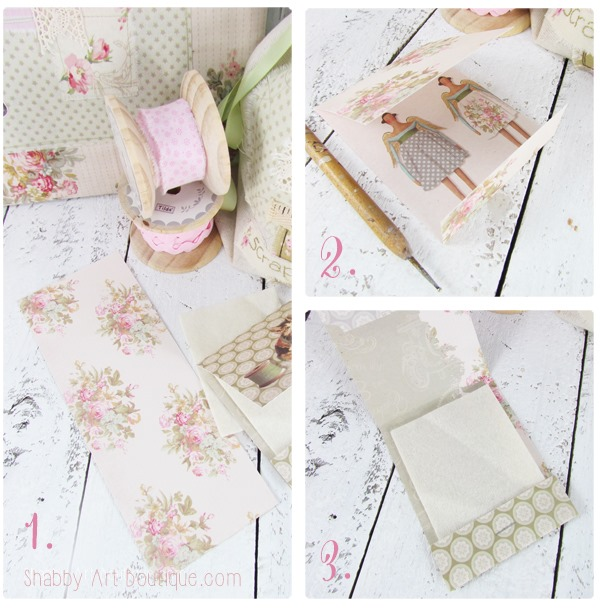 How to make a matchbook needle keeper by Shabby Art Boutique