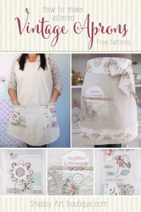 How to make altered vintage aprons