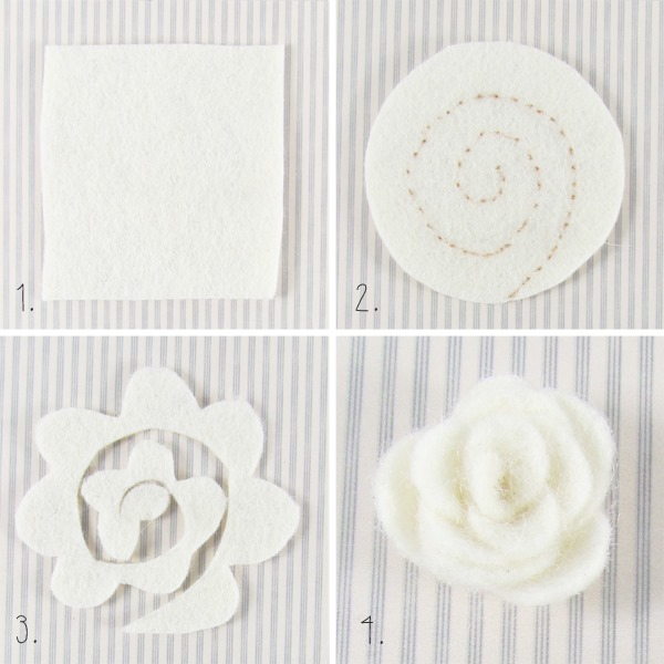 How to make mini felt flowers by Shabby Art Boutique