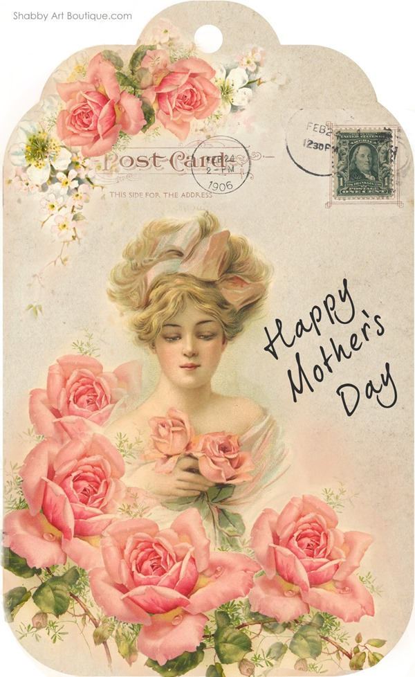 Shabby Art Boutique - free Mother's Day tag printable