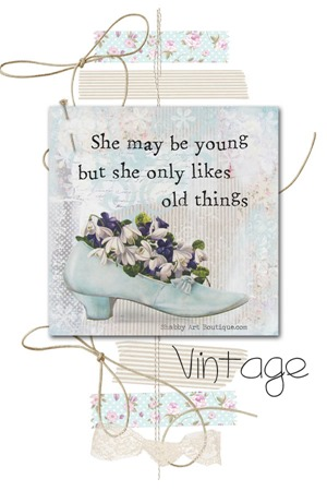 Shabby Art Boutique vintage mixed media
