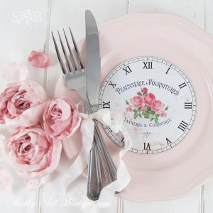 DIY: 4 shabby & cottage clock faces