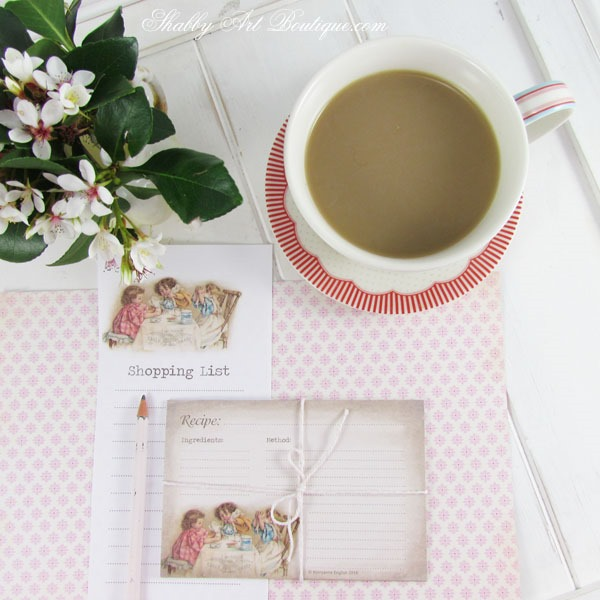 Free printable menu planner from Shabby Art Boutique. Click now for instant download or pin for later