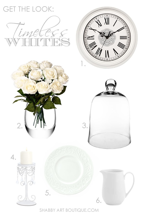 Get The Look -  Timeless Whites by Shabby Art Boutique