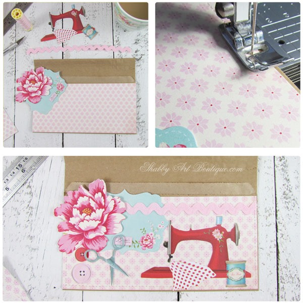 DIY - brown paper bag pockets by Shabby Art Boutique. Click now to see full tutorial or pin for later.