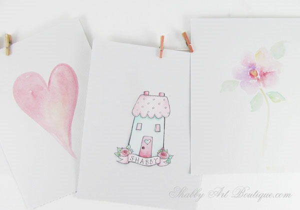Pen and wash technique by Kerryanne English for Shabby Art Boutique.  Visit the website for 100+ tutorials and inspiration.