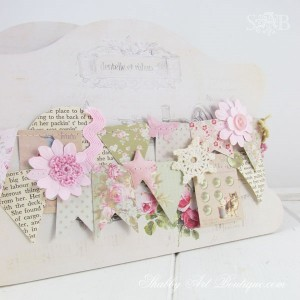 From shabby scraps to shabbilicious garland