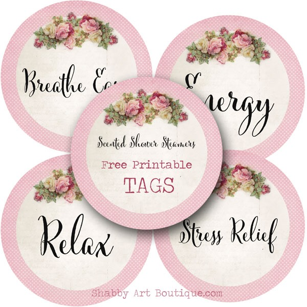 Free Printable Bath Bomb Tag Templates: DIY: Scented Shower Steamers