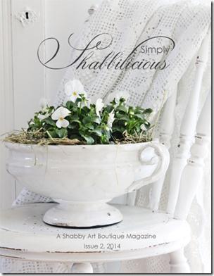 Shabby Art Boutique - Simply Shabbilicious Magazine cover issue 2, 2014 (FB)