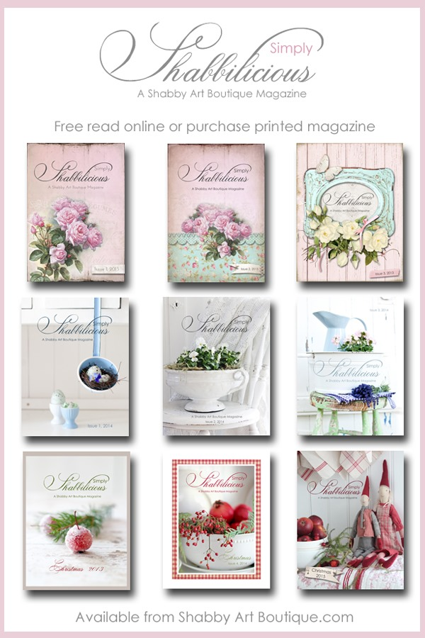 Simply Shabbilicious Magazine from Shabby Art Boutique. Free read online or purchase printed magazine - shabby, vintage, farmhouse and cottage styled homes, DIY and craft. Click to read or PIN for later.