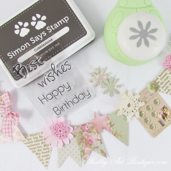 How to make a handmade shabby card and my 5 top tips for stamping. Click now for tutorial or PIN for later.