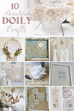 10 beautiful Doily craft project tutorials.