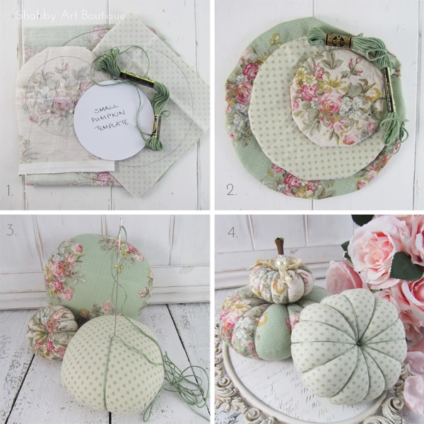 Diy Shabby : DIY– Shabby Fabric Pumpkins - Shabby Art Boutique