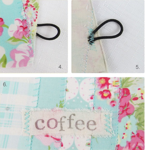 How to make a faux patchwork mug cosy 2  by Shaby Art Boutique