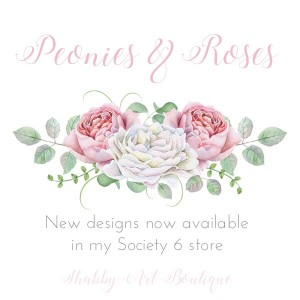 New in the shop… Pink Peonies & Roses