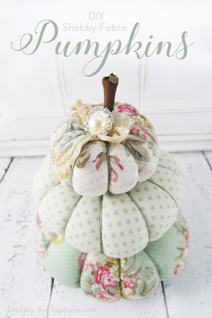 Shabby Art Boutique - DIY Shabby Fabric Pumpkins