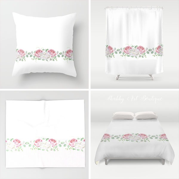 Shabby Art Boutique - Peoniesa nd Roses - Society 6