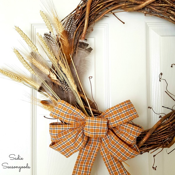 10_DIY_wired_ribbon_for_wreath_bow_from_thrift_store_mens_plaid_flannel_shirt_Sadie_Seasongoods