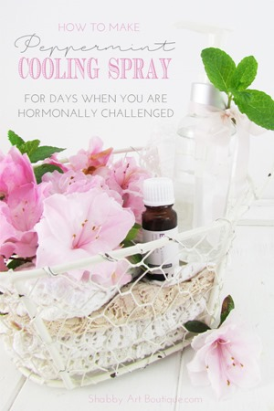 DIY - Peppermint cooling spray for days when you are hormonally challenged
