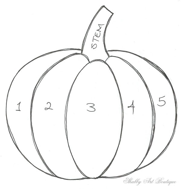 This is an image of Dynamic Traceable Pumpkin Pattern