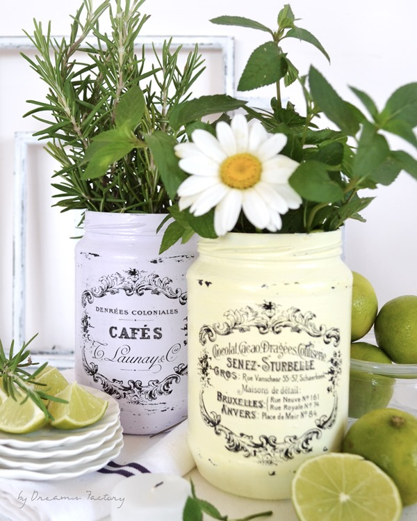 Easy-Decorating-with-Flowers-Fruits-Herbs-and-French-Jars-16-