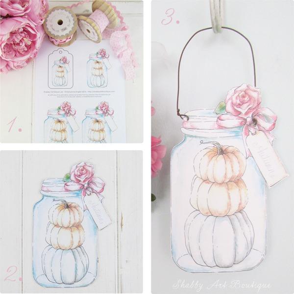 Make a hanging mason jar from printable