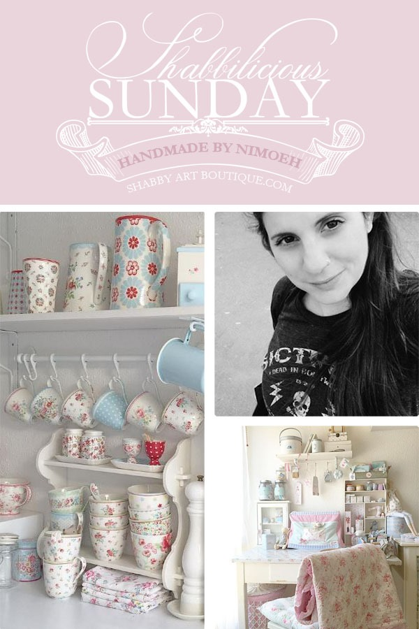 Shabbilicious Sunday visits Olivia's beautiful Scandinavian style cottage from Handmade by Nimoeh. Click to see full home tour of PIN for later.