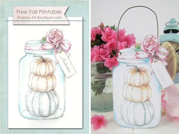Shabby Art Boutique - fall printable project