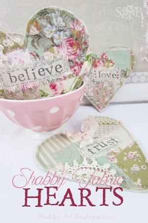 Shabby Art Boutique - shabby fabric hearts