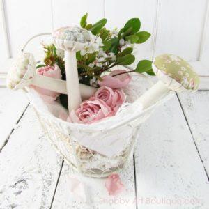 Fabric Mushrooms for Romantic Fall Decor