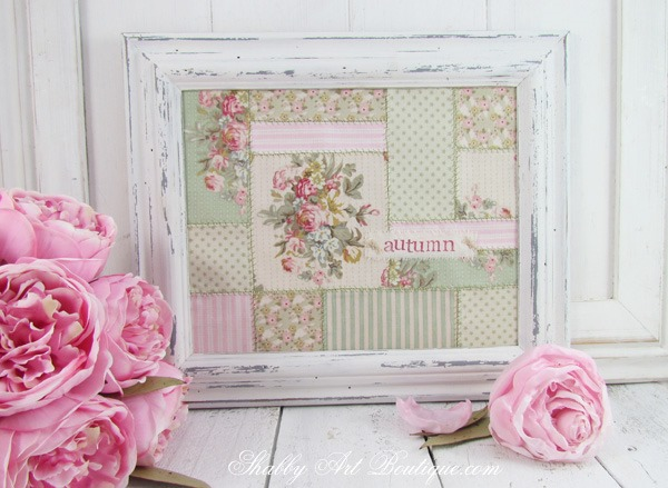 Get the tutorial for making this faux patchwork frame by Shabby Art Boutique. Click now for instructions or PIN for later.