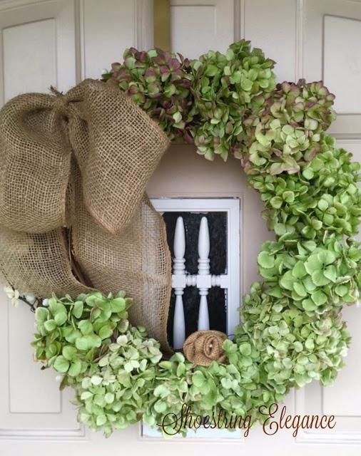How to Make a Dried Hydrangea Wreath that Looks Fresh Shoestring Elegance Fall Front Door