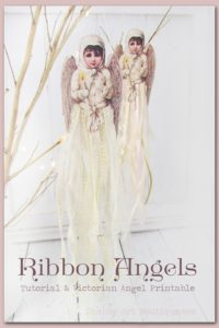 Victorian Ribbon Angel Ornament