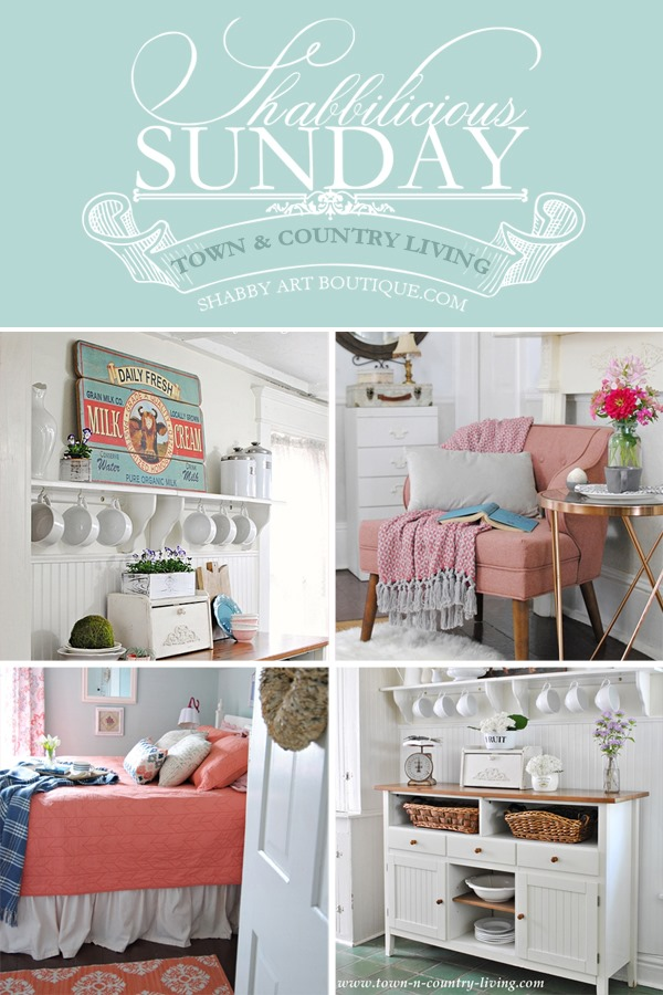 Take a tour of Jennifer's beautiful home at Town and Country Living on Shabby Art Boutique. This 1865 charmer is a mix of farmhouse meets shabby chic and full of gorgeous inspiration. Click now to take the tout or PIN for later